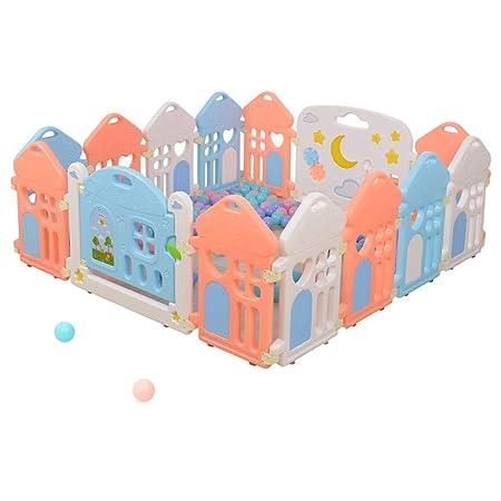 QIAOWW-Mesa Parque Infantil para bebés y niños pequeños con Panel ...