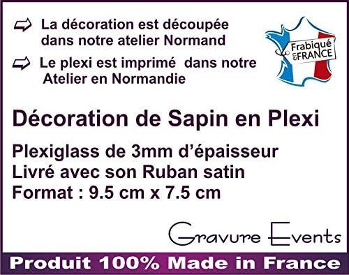Mon Premier No/ël Gravure Events D/écoration de Sapin Alternative /à la Boule 1er no/ël Sujet en Plexiglass Mod.L -