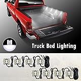 Partsam Universal Waterproof White LED Truck Bed/Rear Work Box Lighting Kit Trunk Light for 1994-2010 Dodge Ram 1500 2500 3500