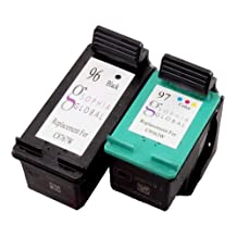 Sophia Global Remanufactured Ink Cartridge Replacement for HP 96 and HP 97 (1 Black, 1 Color)