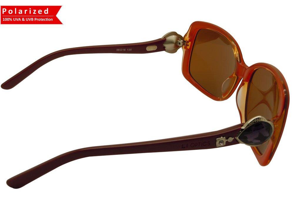 High quality product CAMILLA COL02 Designer style Sunglasses Polarized lens BURGUNDY