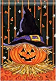 "Cheap ""Jack In The Hat"" Jack-O-Lantern in Witch's Hat, Halloween Standard House Flag 28″ X 40″"