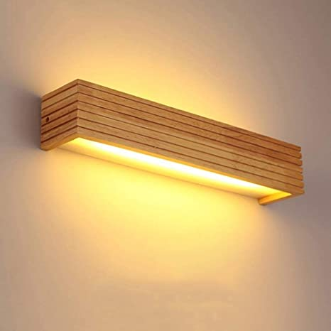 AD Planet Modern Japanese Style Led Lamp Oak Wooden Wall ...