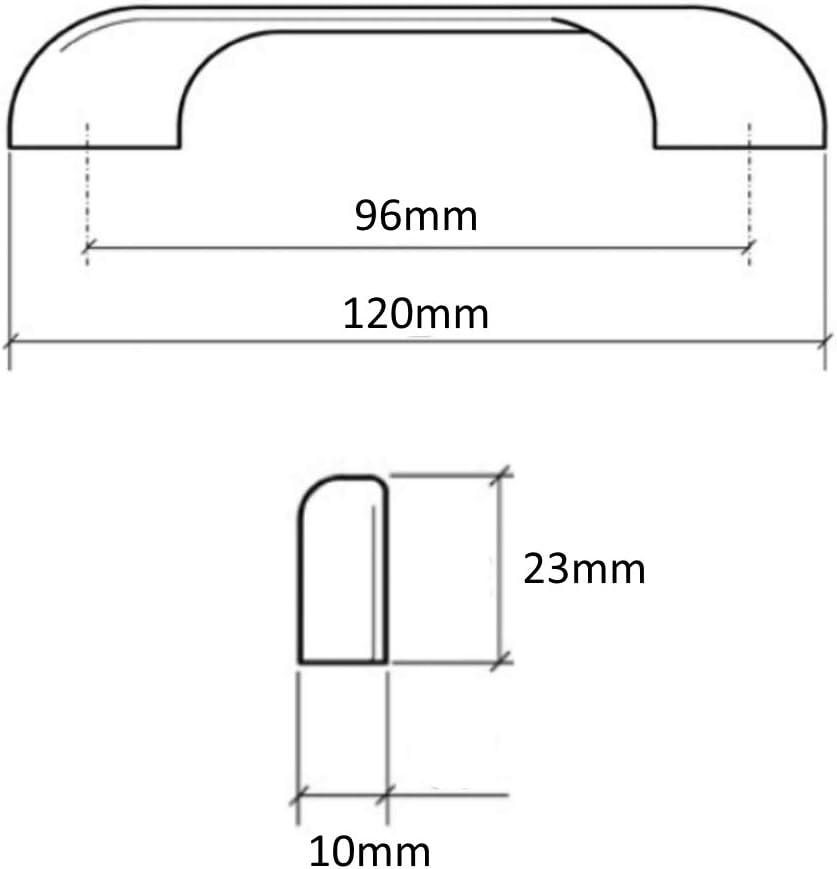 Colore: Argento Opaco Set di 6 Maniglie per cassetto Ante e Armadio 96 mm Aerzetix C41374 Armadio