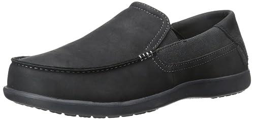 Mens Santa Cruz 2 Luxe M Navy/Hznt Loafers, Grey, D(M) US Crocs