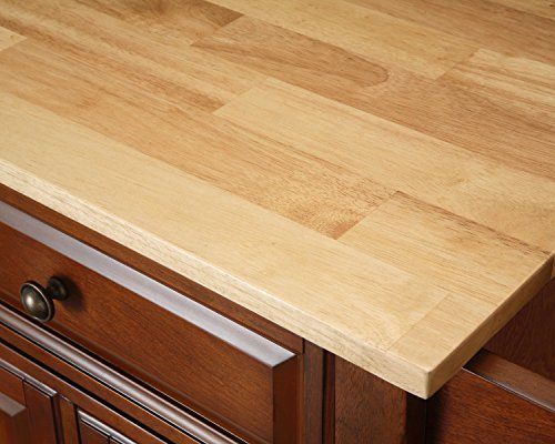 Crosley Furniture Cambridge Kitchen Island with Natural Wood Top - White by Crosley Furniture (Image #5)