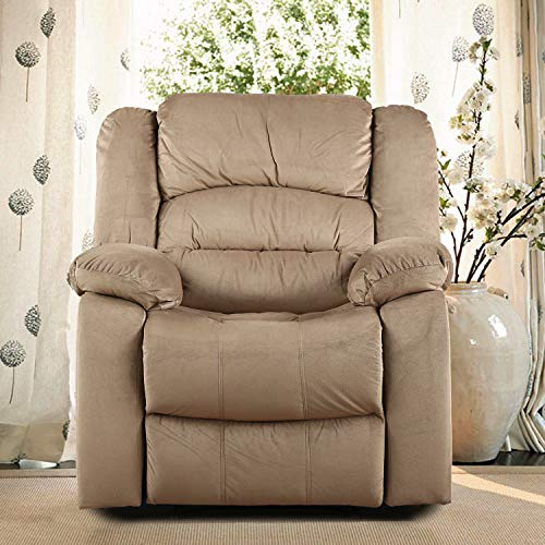 HomeTown Bradford Fabric Single Seater Recliner in Camel Colour