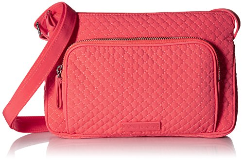 Vera Bradley Iconic RFID Little Hipster Crossbody, Microfiber, Coral Reef