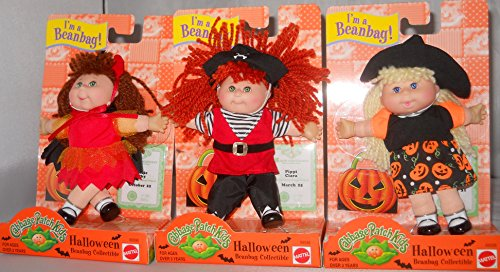 Cabbage Patch Kids I'am a Beanbag Halloween 3 Bean Bag Collection Dolls Each (Cabbage Patch Kids Halloween)