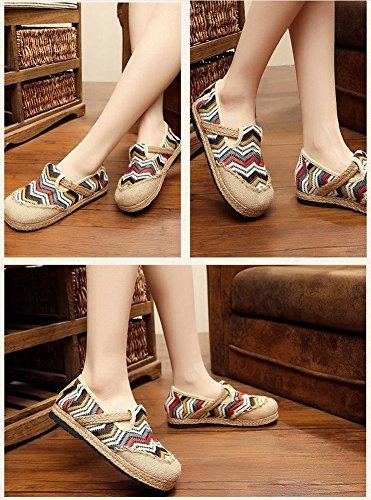 xichengshidai - Mocasines de Lona para mujer multicolor multicolor