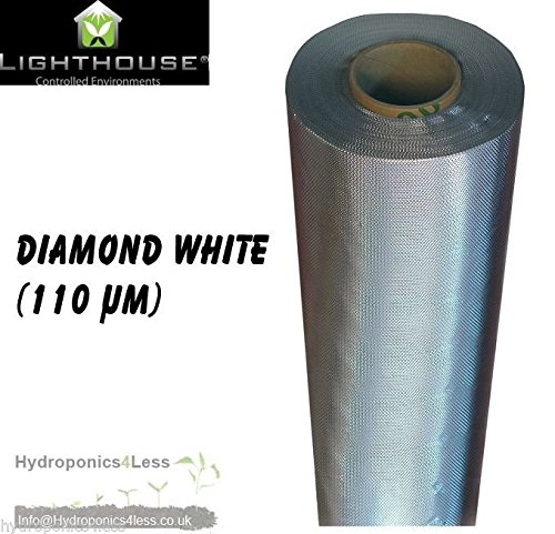 Reflective Panel (LightHouse Silver Diamond Mylar Reflective Sheeting Film Roll Hydroponics Grow 2 To 100M (1.2 Meter 2))