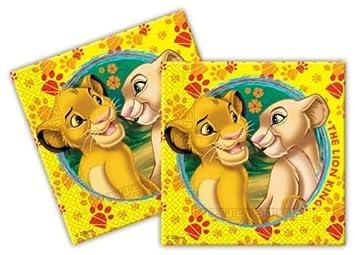 Le Roi Lion Lot De 20 Serviettes En Papier Pour Fête D