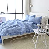 Best Comforbed Comforter Sets - Korean Pleats Comforter Set 3-Piece Polyester Daisy Embroidered Review