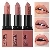 CCbeauty 3pcs Moisturizing & Matte Makeup Lipsticks Set Matte Lipstick...