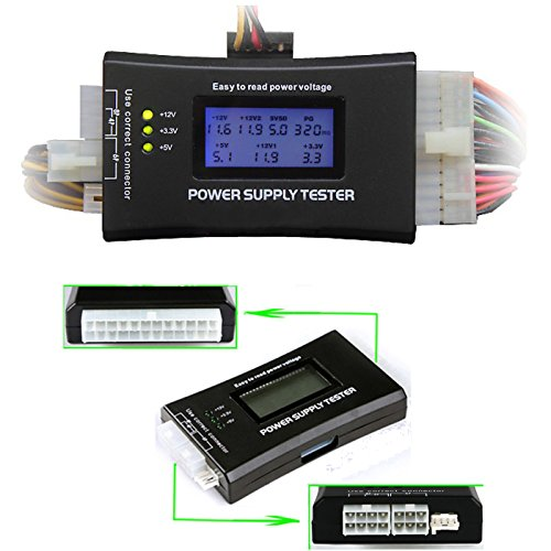HDE 20+4 Pin LCD Power Supply Tester for ATX, ITX, BTX, PCI-E, SATA, HDD by HDE (Image #1)
