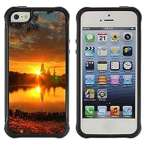 Suave TPU GEL Carcasa Funda Silicona Blando Estuche Caso de protección (para) Apple Iphone 5 / 5S / CECELL Phone case / / Sunset Beautiful Nature 57 /