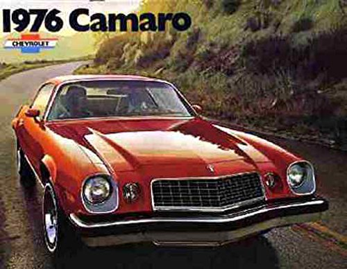 Original Dealer Brochure - 1976 Chevrolet Camaro Sales Brochure Literature Dealer Advertisement Options