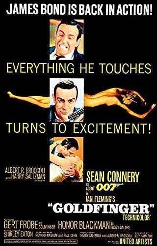 Goldfinger - James Bond - 1964 - Movie - Poster Movie Goldfinger