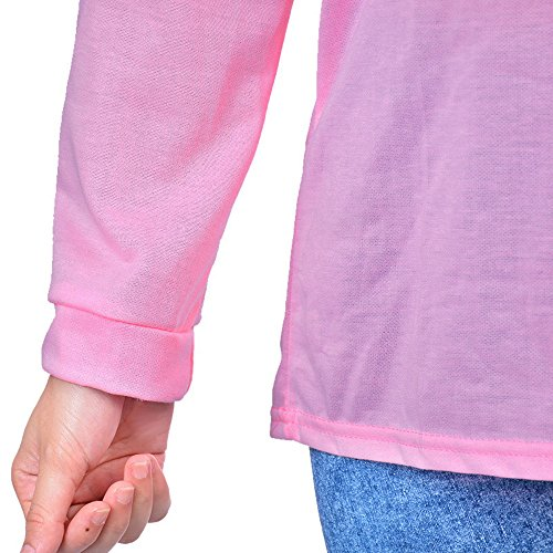 Automne Sweat Shirt Rose Manches Pull Lacet Aelegant Femme Hoodie Longues PaxqTn8wE