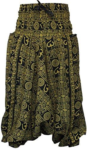 De Confortable Yoga Shopoholic Pantalon Et Vrac Om Fashion Harem En Imprimé Confortable Hippy Citron Avec dvYHvzx