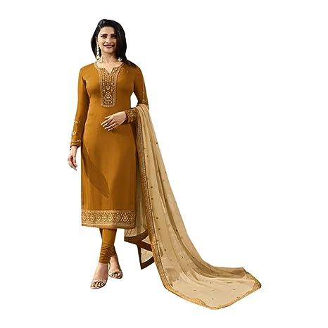 Bollywood Seda Georgette Salwar Kameez Formal Musulmán Traje ...