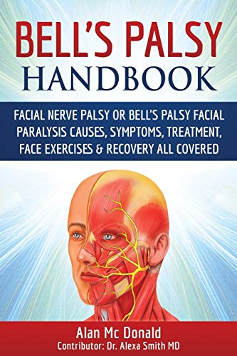 Bell's Palsy Handbook: Facial Nerve Palsy or Bell's Palsy facial paralysis causes, symptoms, treatment, face exercises & recovery all covered (Muscle Massager Stimulator)