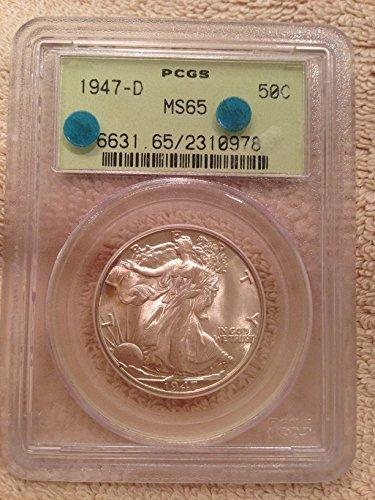 1947 D WALKING LIBERTY Half Dollar MS65 PCGS