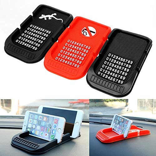 1 PC Car Dashboard Anti Slip Mat with Numbers Parking GPS Holders Phone Holder 3 Colors Non-Slip Pad for Key Cell Phone iPhone PerfectPrice