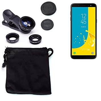 K-S-Trade 3in1 para Samsung Galaxy J6 (2018) Obiettivo Lente 180 ...
