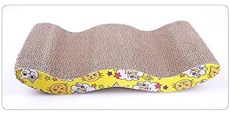 Mueble del salón; diván rascador para gatos de Oriental eLife, con diseño ondeado,