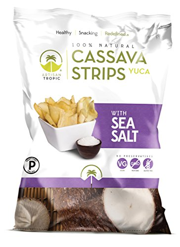 Artisan Tropic Cassava Strips, Sea Salt, Cooked in Sustainable Palm Oil