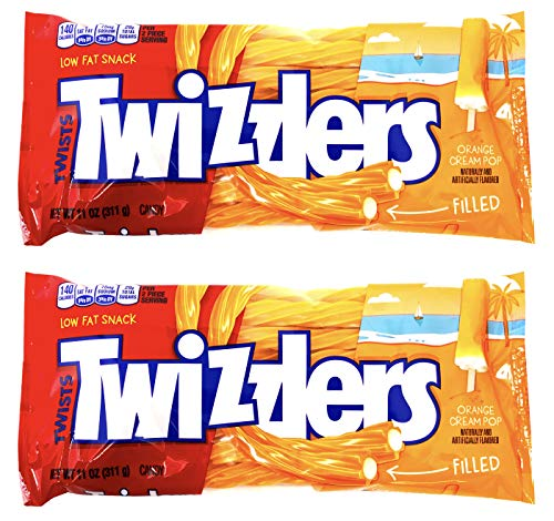 Twizzlers Creamsicle Dreamsicle Popsicle Orange Cream Pop Filled Twists ( 2 PACK )