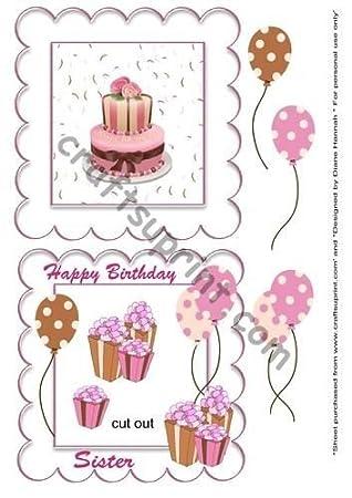 Feliz cumpleaños hermana coctelera para tartas por Diane ...