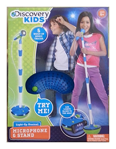 Discovery Kids Light-Up Musical Microphone and Stand - Microphone Real