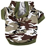 Urparcel Army Green Camouflage Hoodie Pet Dog Clothes Camo Sweatshirt-S Size
