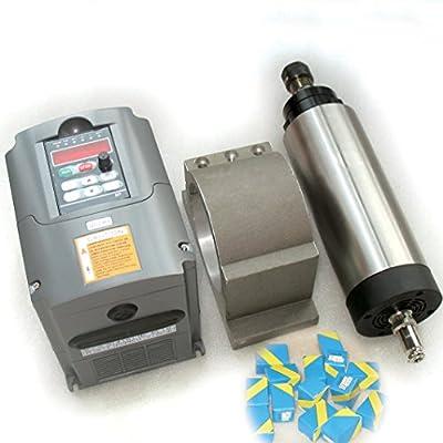 2.2KW Air Cooled Spindle Motor ER20 Kit + 2200W 2.2kw 220V Inverter VFD 2HP + 80mm Clamp Mount + 14pcs / Set ER20 Spring Collet for CNC Router Engraving Milling Machine