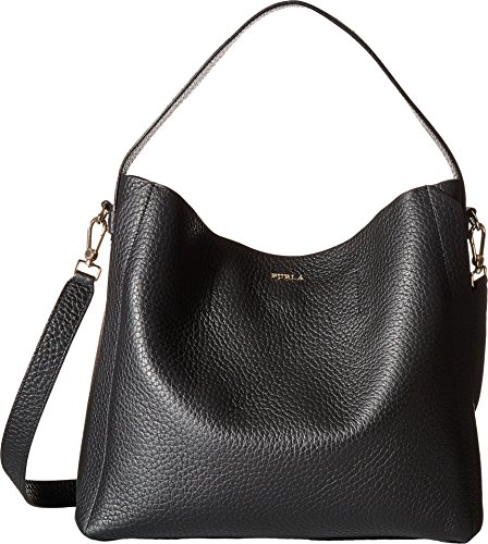 Furla Women's Capriccio Medium Hobo Bag, Onyx, One Size by Furla