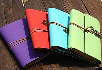 LAAT 1pz Vintage Taccuino della Taccuino Pelle Taccuino Notebook Taccuino Vintage Diario di Viaggio Taccuino di Giornale Business Notebook con giornali di viaggioTravel diario 14,5 cm x 10,5 cm