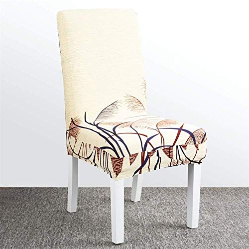 XHCP Chair Cover Dining Chair Covers Siamese Stretch Chair Home Restaurant All-Inclusive Back Cover Seat Seat Cushion Anti-Dirty Detachable,D