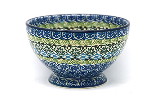 Polish Pottery Bowl - Pedestal - Small - (Gallery Pedestal Bowl)