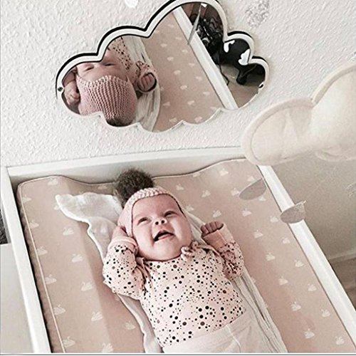 Homyl Kid's Bedroom Nursery Decoration Shatterproof Acrylic Wood Frame Mirror Rabbit Crown Heart Butterfly Cloud Garden Wall Art Decor Mirror - As described, 2 by Homyl (Image #8)