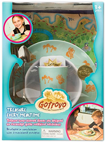 Gotrovo Dinner Set/Game for Picky Eaters: Motivates Kids Through Fun