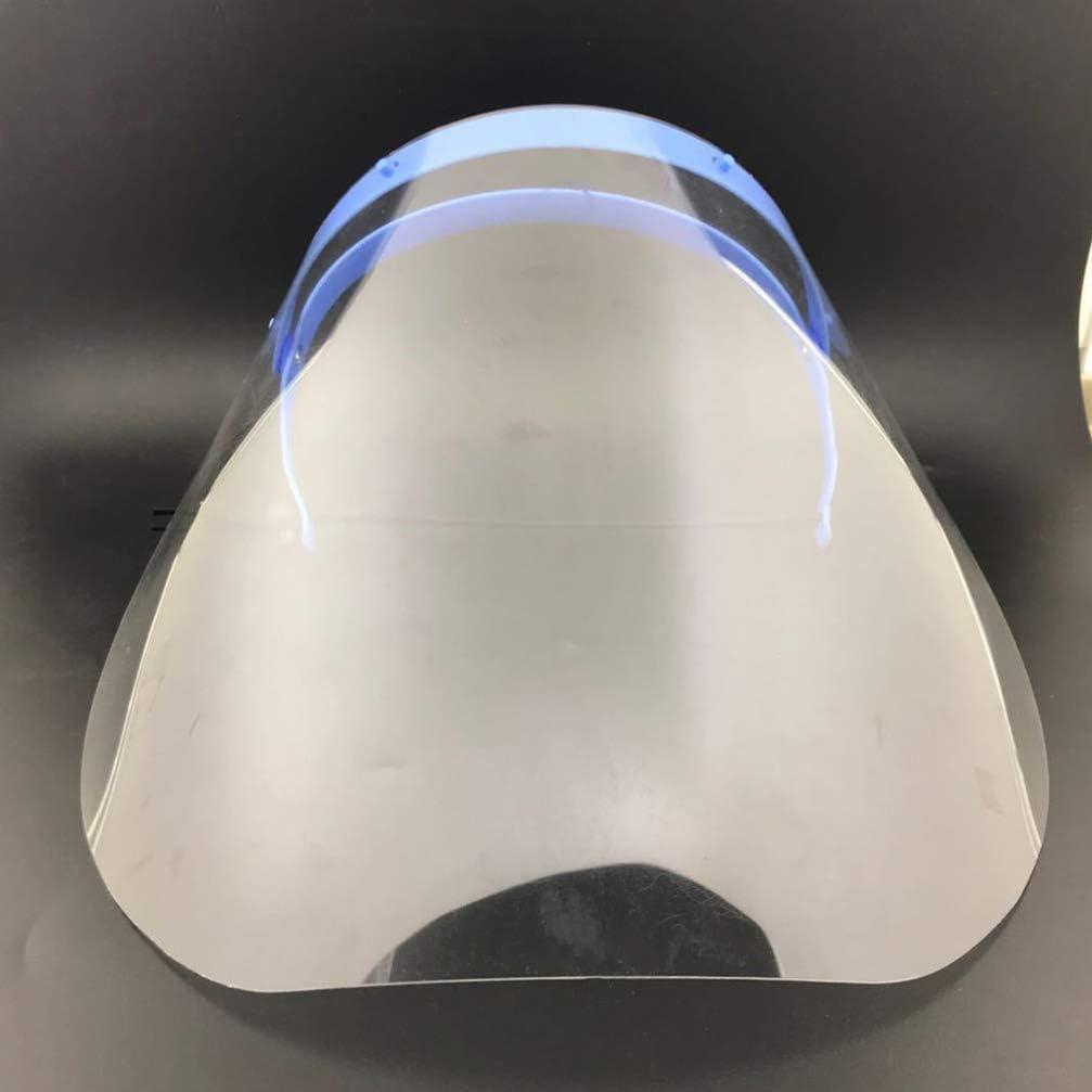 Exceart 2 Piezas de Protecci/ón Facial Protectora Transparente Anti-Saliva Estornudo Salpicadura Protector Facial Antivaho a Prueba de Aceite Cubierta Completa para Cocina Casera Al Aire Libre