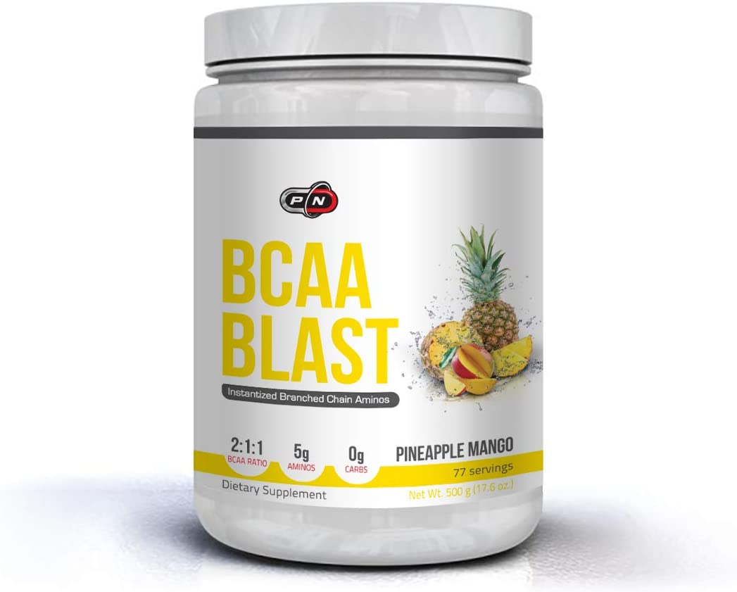 BCAA BLAST Powder 5000mg Supplement 2 1 1 Ratio Branched Chain Amino Acids 500g 250g 38 77 Servings Leucine Isoleucine Valine Glutamine Optimum Muscle Recovery Intra Pre Workout Energy Hydration Drink