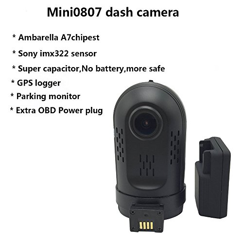 adashine mini 0807 dash cam with 24hours parking mode monitor import it all. Black Bedroom Furniture Sets. Home Design Ideas