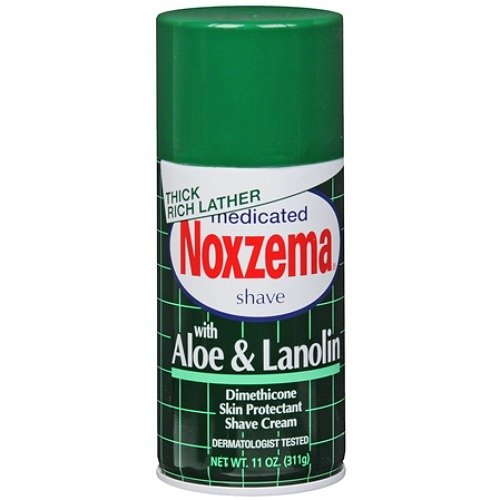Men Aloe (Medicated Shave Cream with Aloe And Lanolin By Noxzema for Men Shave Cream, 11 Ounce)