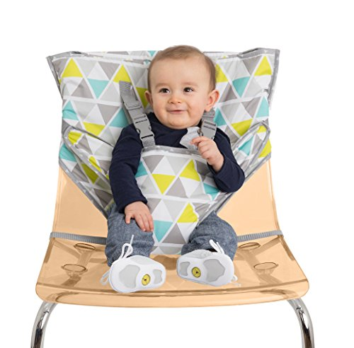 (Alphabetz Portable Travel High Chair and Safety Seat, Geo Triangle)