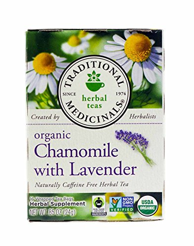 Traditional Medicinals Organic Chamomile With Lavender Herbal Tea - 16 Tea Bags (Pack Of 2) - Organic Chamomile White Tea