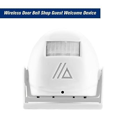OWSOO Dispositivo de Bienvenida Invitado Inalámbrico Timbre de Bienvenida Sensor de Movimiento Infrarrojo Alarma Antirrobo,