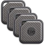 Tile (EC-09004) Sport - Key Finder. Phone Finder. Anything Finder (Graphite) - 4 Pack: more info